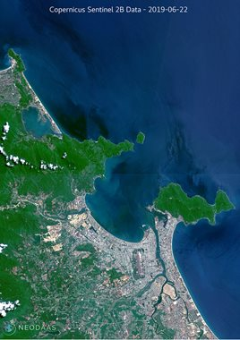 Satellite image of Da Nang (Vietnam)
